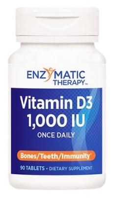 Vitamin D3 90 tablets Enzymatic therapy / Витамин Д3 90 таблетки Ензиматик терапи