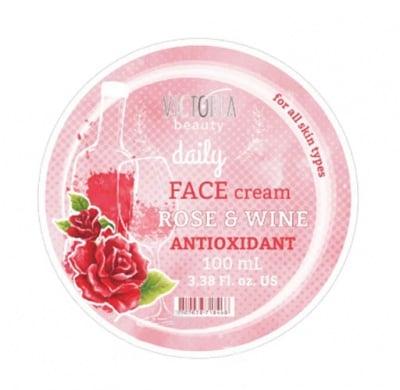 Victoria beauty daily antioxidant face cream with rose & wine 100 ml / Виктория бюти Дейли антиоксидантен крем за лице с роза и вино 100 мл