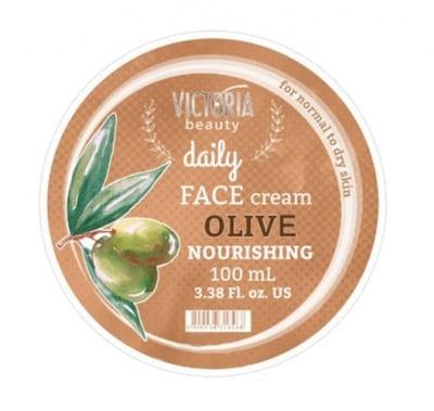 Victoria beauty daily nourishing face cream with olive 100 ml / Виктория бюти Дейли подхранващ крем за лице с маслина 100 мл