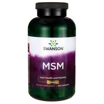 Swanson MSM (Methylsulfonylmethane) 1000 mg 240 capsules / Суонсън Ултра МСМ 1000 мг 240 капсули