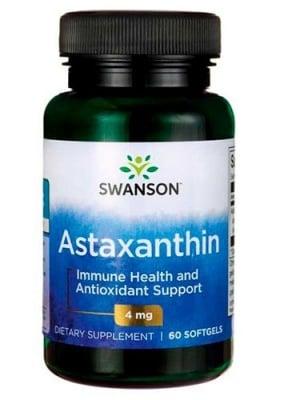 Swanson Astaxanthin 4 mg 60 capsules / Суонсън Астаксантин 4 мг 60 капсули