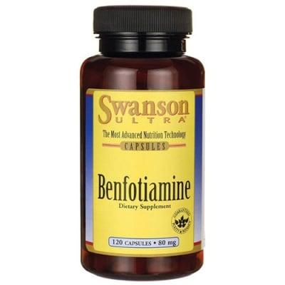 Swanson Ultra benfotiamine 80 mg 120 capsules / Суонсън Бенфотиамин 80 мг 120 капсули