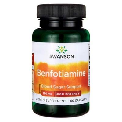 Swanson Ultra benfotiamine 160 mg 60 capsules / Суонсън Бенфотиамин 160 мг 60 капсули