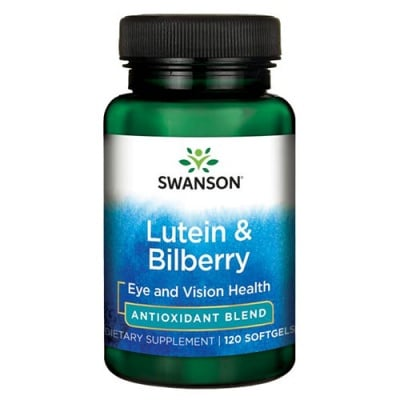 Swanson Ultra standardized lutein and bilberry 120 softgels / Суонсън Стандартизиран лутеин и боровинки 120 капсули