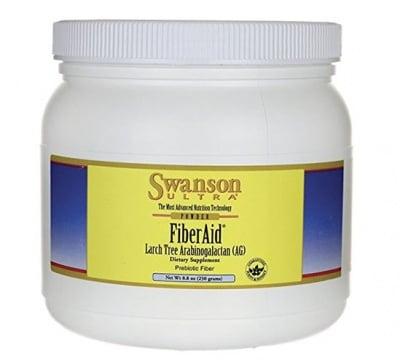 Swanson Fiber AID Arabinogalactan from larch powder 250 g / Суонсън Файбър ЕЙД арабиногалактан от лиственица прах 250 гр.
