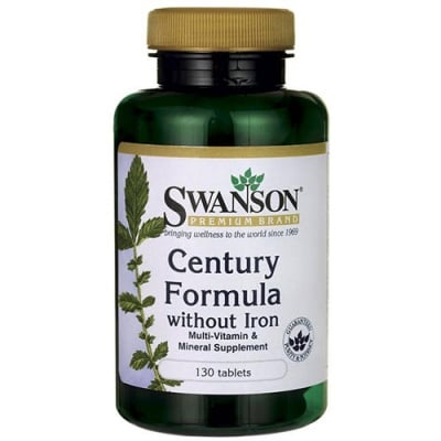 Swanson Century  formula without iron 130 tablets / Суонсън Мултивитамини и минерали без желязо Century  130 таблетки