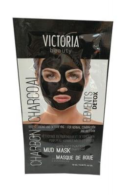 Victoria Beauty deep cleansing and detoxifying face mask with activated charcoal 10 ml / Виктория бюти отлепяща почистваща маска за лице с активен въглен 10 мл