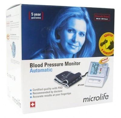 Automatic device for measuring blood pressure Microlife A100-30 / Електронен апарат за измерване на кръвно налягане Микролайф A100-30