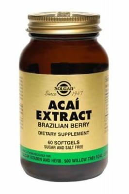 Acai extract 60 capsules Solgar / Акай екстракт 60 капсули Солгар