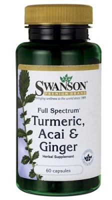 Swanson Acai, turmeric, ginger 60 capsules / Суонсън Акай, куркума, джинджифил 60 капсули