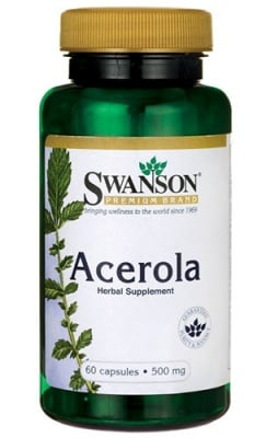 Swanson Acerola 500 mg 60 capsules / Суонсън Ацерола 500 мг. 60 капсули