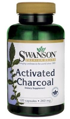 Swanson Activated charcoal 260 mg 120 capsules / Суонсън Активен въглен 260 мг. 120 капсули