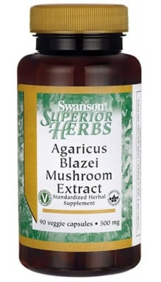 Swanson agaricus blazei mushroom extract 500 mg 90 capsules / Суонсън Агарикус блазей 500 мг. 90 капсули