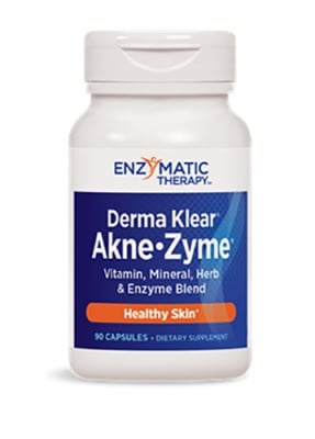 Derma clear acne-zyme 90 capsules Enzymatic Therapy / Дерма Клиър акне-зим 90 капсули Ензиматик терапи