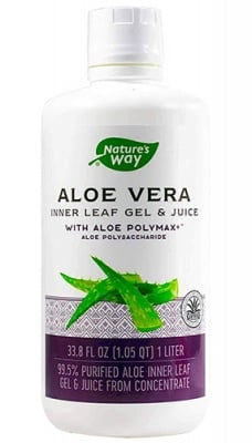 Aloe Vera leaf 99,5 % juice 1 liter Nature's Way / Алое Вера 99,5 % сок от цели листa 1 л. Nature's Way