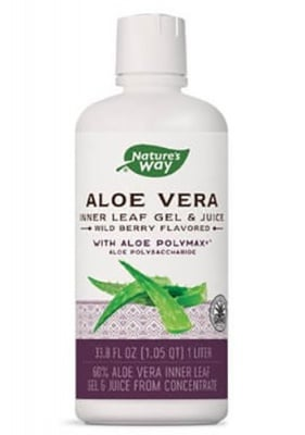 Aloe Vera leaf gel and juice 60% 1 liter Nature's Way / Алое Вера гел и сок плодов 60% 1 литър Nature's Way