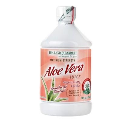 Aloe Vera juice drink with cranberry flavour 473 ml. Holland & Barrett / Алое Вера сок максимална сила с червена боровинка 473 мл. Holland & Barrett