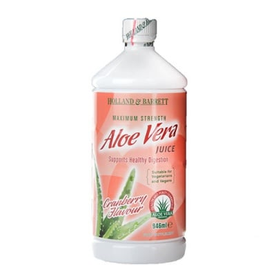 Aloe Vera juice drink with cranberry flavour 946 ml. Holland & Barrett / Алое Вера сок максимална сила с червена боровинка 946 мл. Holland & Barrett