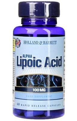 Alpha lipoic acid 100 mg 60 capsules Holland Barrett / Алфа липоева киселина 100 мг. 60 капсули Holland Barrett