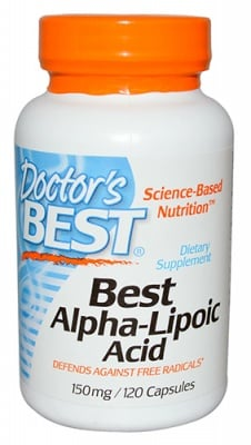 Doctor's Best Alpha lipoic acid 150 mg 120 capsules / Доктор'с Бест Алфа липоева киселина 150 мг. 120 капсули