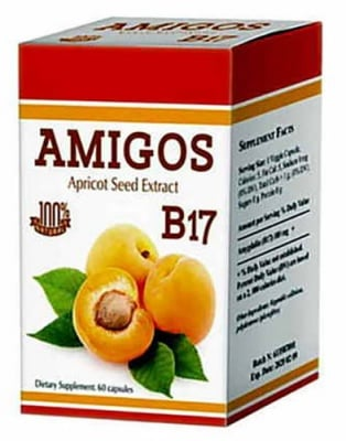 Amigos amigdalin B17 100 mg. 60 capsules Dr. Green / Амигос амигладин В17 100 мг. 60 капсули