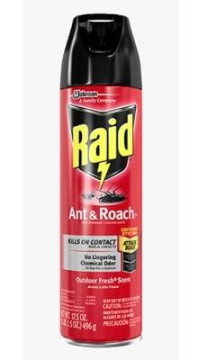 Raid aerosol for crawling insects red / Райд аерозол за пълзящи насекоми червен