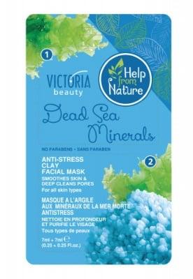 Victoria Beauty Anti-stress clay facial mask with dead sea minerals 7 ml 2 pcs. / Виктория Бюти Глинена анти-стрес маска за лице с минерали от Мъртво море 7 мл. 2 броя