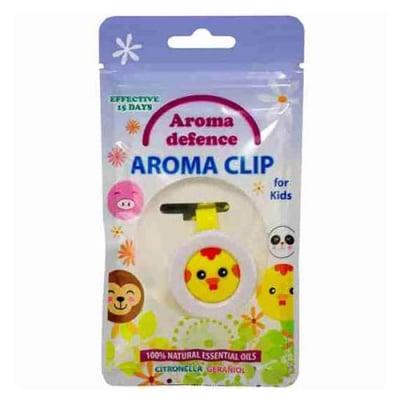 Aroma Defence Aroma Clip for kids with Citronella and Geraniol Oils / Силиконов клипс за деца против комари с аромат на цитронела и здравец - различни цветове