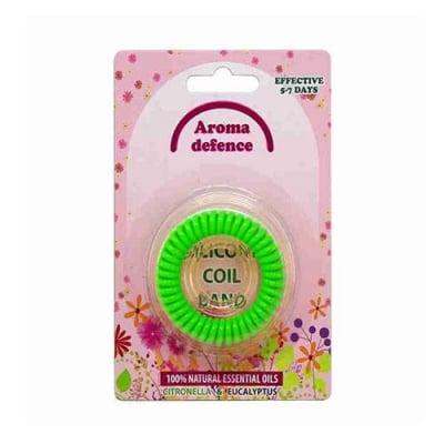Aroma Defence Silicone Coil Citronella Band against mosquitoes / Силиконова гривна спирала против комари с аромат на цитронела - различни цветове