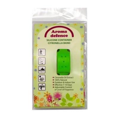 Aroma Defence Silicone Container Citronella Band Adult against mosquitoes / Силиконова гривна за възрастни против комари с контейнер с натурално масло от цитронела - различни цветове