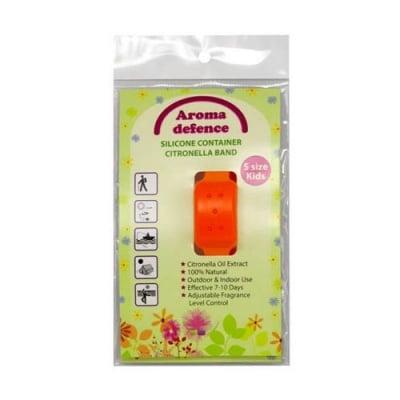 Aroma Defence Silicone Container Citronella Band for Kids against mosquitoes / Силиконова гривна за деца против комари с контейнер с натурално масло от цитронела - различни цветове