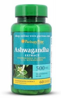 Puritan's Pride Ashwagandha extract 500 mg 60 capsules / Пуританс Прайд екстракт от Ашваганда 500 мг. 60 капсули