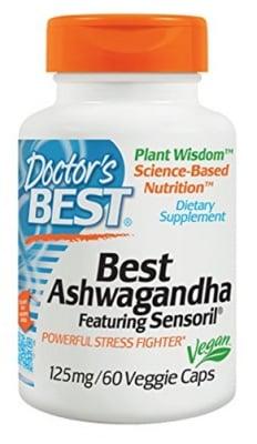 Doctor's Best Ashwagandha 125 mg 60 capsules / Доктор'с Бест Ашваганда 125 мг. 60 капсули