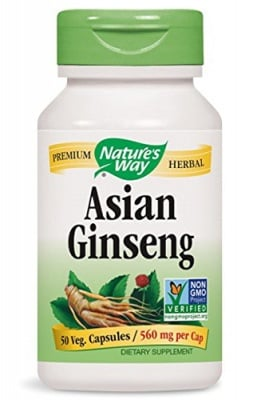 Asian ginseng 560 mg 50 capsules Nature's Way / Азиатски и корейски жен - шен 560 мг. 50 капсули Nature's Way