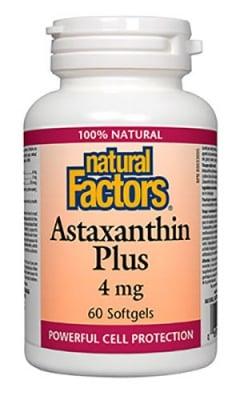Astaxanthin 4 mg 60 capsules Natural Factors / Астаксантин плюс 4 мг. 60 капсули Натурал Факторс