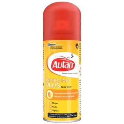 Autan Protection Plus Dry Spray 100 ml. / Аутан Протекшън Плюс Сух спрей 100 мл.