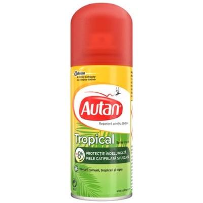 Autan Tropical Dry Spray 100 ml / Аутан Тропикал Сух спрей 100 мл.