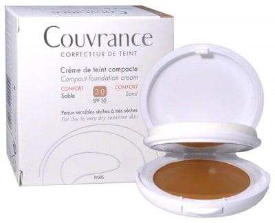 Avene Couvrance Comfort compact foundation cream SPF30 03 Sand / Авен Кувранс компактна крем-пудра Комфорт SPF30 03 Пясък