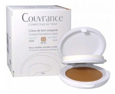 Avene Couvrance MAT effect compact foundation cream SPF30 3 sand / Авен компактна крем-пудра с матиращ ефект SPF30 3 пясък