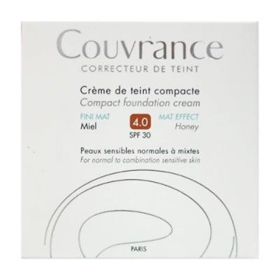 Avene Couvrance MAT compact foundation cream SPF30 4 honey / Авен компактна крем-пудра с матиращ ефект SPF30 4 мед