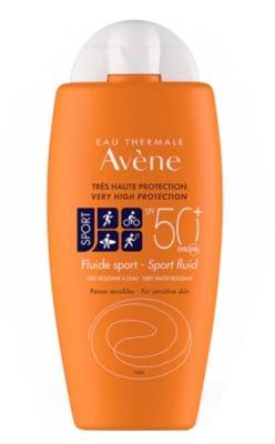 Avene Fluid Sport SPF50+ 100 ml. / Авен Слънцезащитен флуид спорт SPF50+ за чувствителна кожа 100 мл.