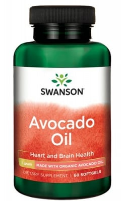 Swanson Avocado oil EFAs 60 softgels / Суонсън масло от Авокадо ЕФА 60 капсули