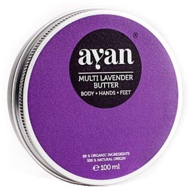 Ayan Multi lavender butter body, hands and feet 100 ml. box / Аян Масло с Лавандула за тяло, ръце и крака 100 мл. кутия