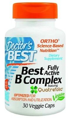 Doctor's Best Fully active B complex 30 capsules / Доктор'с Бест Фули Актив Витамин Б комплекс 30 капсули