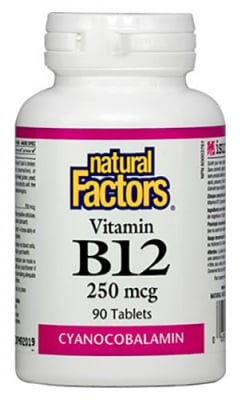 Vitamin B 12 250 mcg 90 tablets Natural Factors / Витамин Б 12 250 мкг. 90 таблетки Натурал Факторс