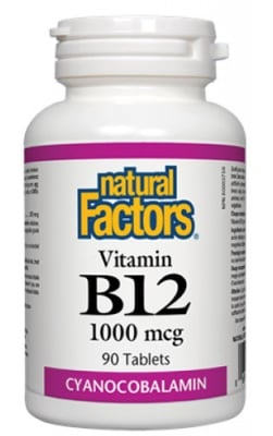 Vitamin B 12 1000 mcg 90 tablets Natural Factors / Витамин Б 12 1000 мкг. 90 таблетки Натурал Факторс