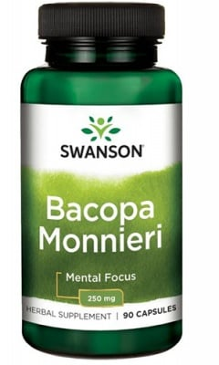 Swanson bacopa monnieri extract 250 mg 90 capsules / Суонсън екстракт от Бакопа мониери 250 мг. 90 капсули