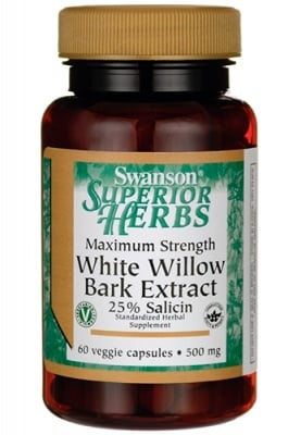 Swanson white willow bark extract 500 mg 60 capsules / Суонсън кора от Бяла върба максимална сила 500 мг. 60 капсули