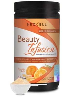 Beauty infusion collagen 330 g NEOCELL USA / Бюти Инфужън гурме Колаген комплекс с вкус на мандарина 330 гр. NEOCELL USA