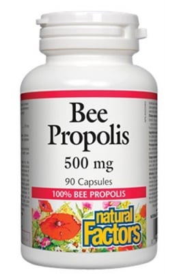 Bee propolis 500 mg 90 capsules Natural Factors /   Прополис 500 мг. 90 капсули Натурал Факторс